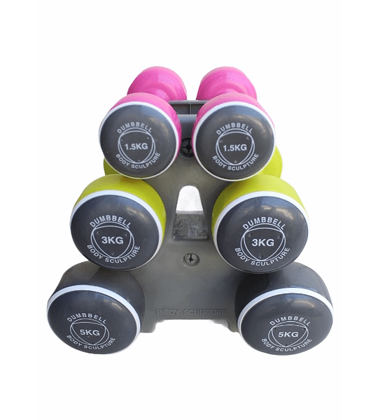 SET MANCUERNAS 19KG DUMBBELL BODY SCULPUTURE