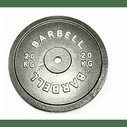 DISCO PREOLIMPICO 15 Y 20 KG BARBELL