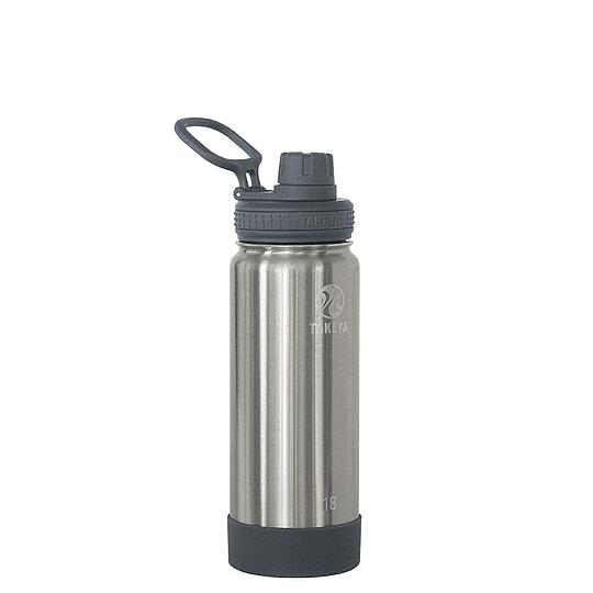 Botella TAKEYA 530ml. Antigoteo STEEL - Image 1