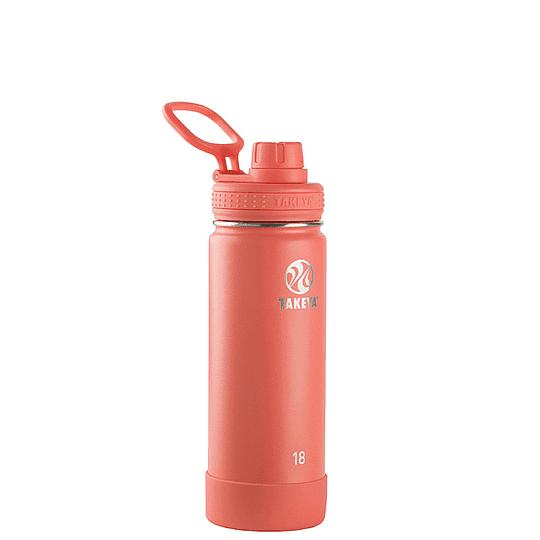 Botella TAKEYA 530ml. Antigoteo CORAL - Image 1