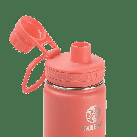Botella TAKEYA 530ml. Antigoteo CORAL - Image 3