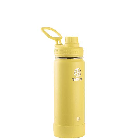 Botella TAKEYA 530ml. Antigoteo CANARY - Image 1
