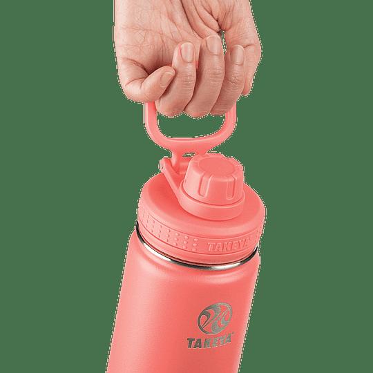 Botella TAKEYA 700ml. Antigoteo CORAL - Image 2