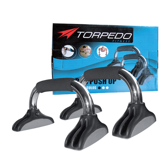 BARRA PUSH UP TORPEDO CROMADO-NEGRO
