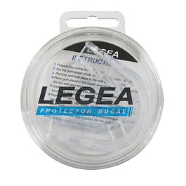 PROTECTOR BUCAL LEGEA SIMPLE TRANSPARENTE