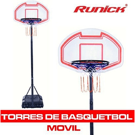 TORRE BASQUETBALL MOVIL MEDIANA CON TABLERO