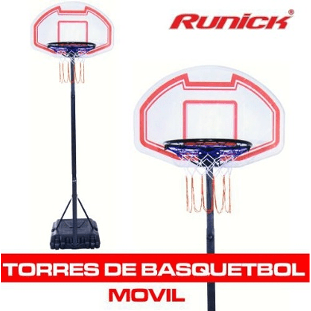 TORRE BASQUETBALL RUNICK MOVIL MEDIANA CON TABLERO