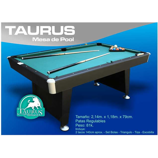 MESA DE POOL TAURUS