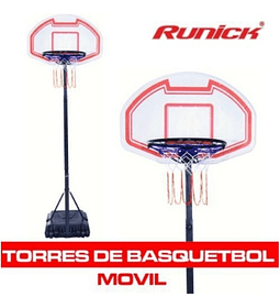 ​TORRE BASQUETBOL RUNICK MOVIL MINI CON TABLERO