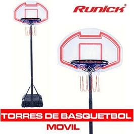 ​TORRE BASQUETBOL MOVIL MINI CON TABLERO