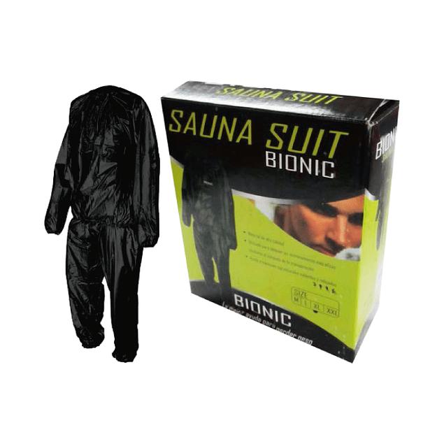 BUZO SAUNA SUIT BIONIC CUTTING WEIGHT NEGRO