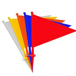 SET 10 BANDERIN TRIANGULAR FLAG SURTIDO