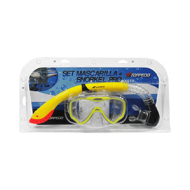 SET SNORKEL TORPEDO PRO-SET ADULTO