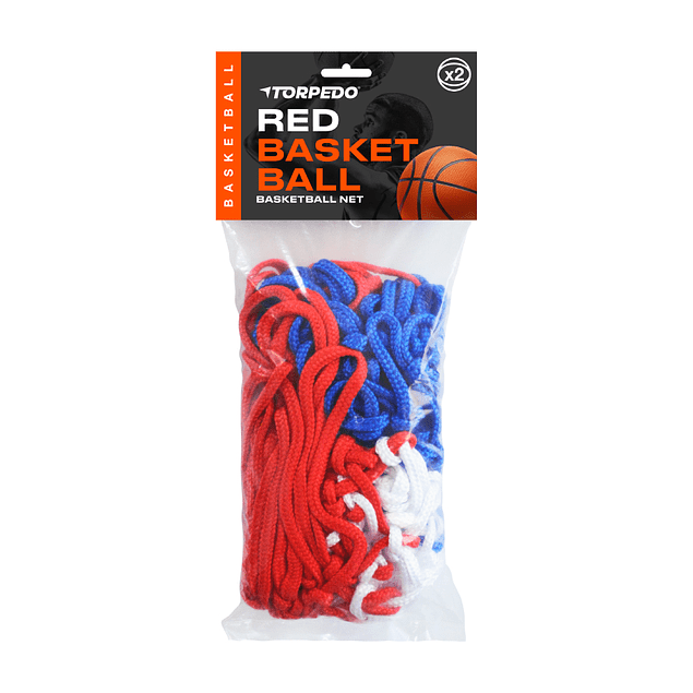 RED BASKET TORPEDO PROFESIONAL TRICOLOR 53 CM
