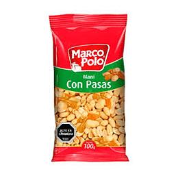 Mani Con Pasas 100 Gr Marco Polo