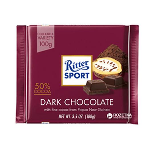 Chocolate Cacao Semiamargo 50% Barra 100 Gr Ritter Sport