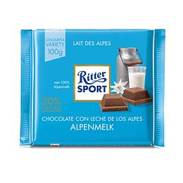 Chocolate Con Leche Alpes Barra 100 Gr Ritter Sport