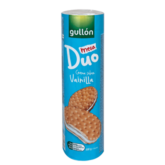 Galleta Mega Duo Vainilla 500 Gr Gullon