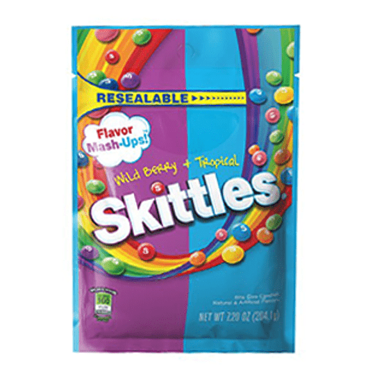 Caramelo Masticable Wild Berry Tropical 204 Gr Skittles
