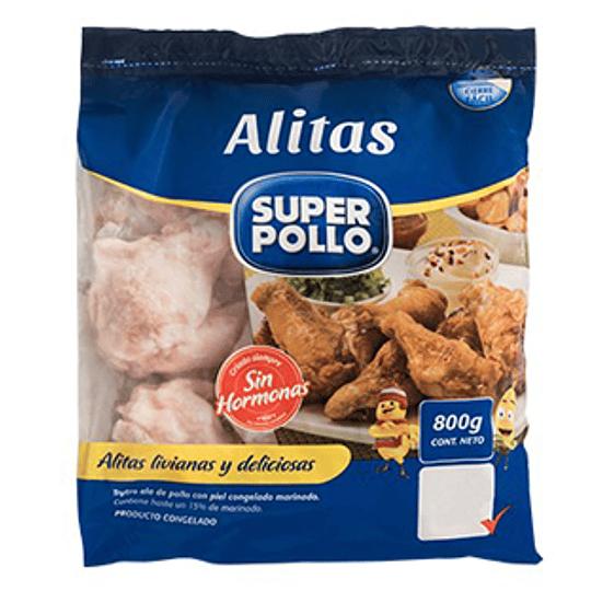Alitas de Pollo Iqf 800 Gr Super Pollo