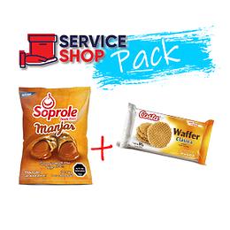 Pack Manjar 1 Kg Soprole + Galleta Waffer Clásica 95 gr