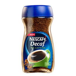Cafe Decaf Descafeinado 170 Gr Nescafe