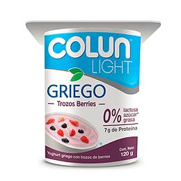 Yoghurt Griego Light Con Berries Pack 4 X 120 Gr Colun