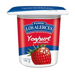 Yoghurt Frutilla Pack 4 X 125 Gr Los Alerces