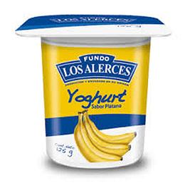 Yoghurt Platano Pack 4 X 125 Gr Los Alerces