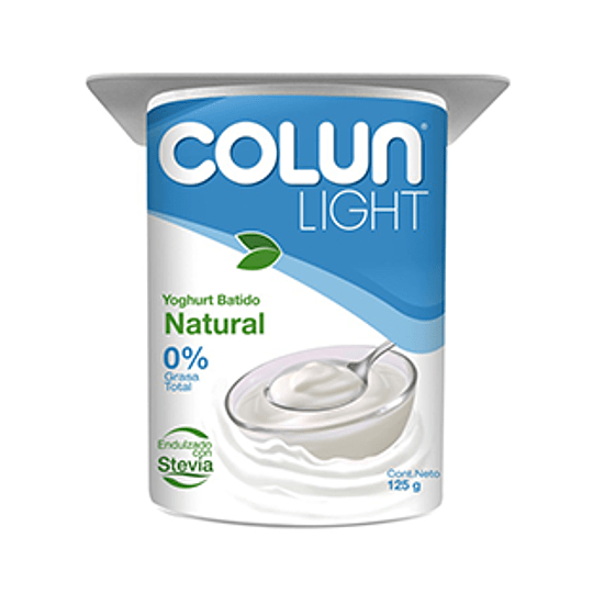 Yoghurt Natural Light Pack 4 X 125 Gr Colun