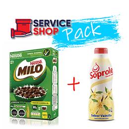 Pack Yoghurt Vainilla 1 LT Soprole + Cereal Milo 500 Gr Nestle