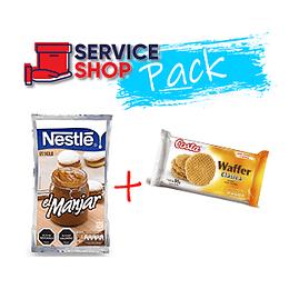 Pack Manjar 1 Kg Nestle  + Galleta Waffer Clásica 95 gr