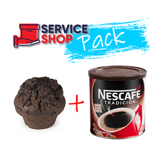 Pack Muffins Chocolate Chips 200 Gr BM + Cafe Tradicion 170 Gr Nescafe