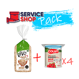 Pack Muesli 800 Gr Vivo + Yoghurt Griego Pro6 Frutilla Pack 4 X 120 Gr Colun