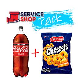 Pack Cheezels Queso 270 Gr  + Coca Cola Zero 3 Lt