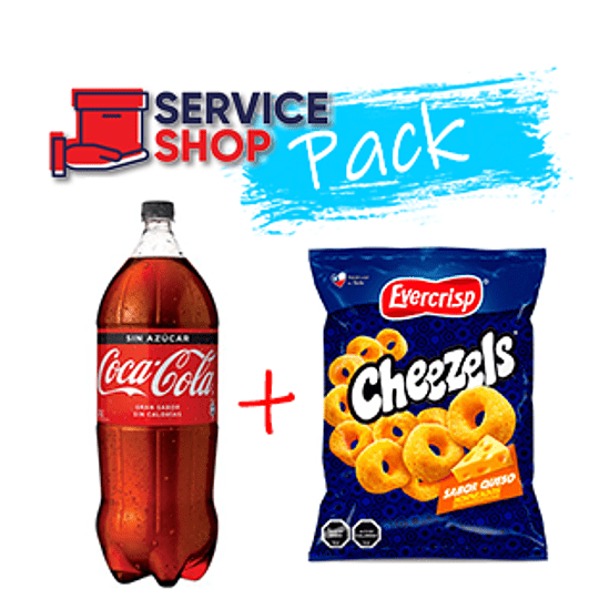 Pack Cheezels Queso 270 Gr  + Coca Cola Zero 3 Lt