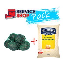 Pack Mayonesa 940 Gr Hellmanns + Palta Hass Malla 1 Kg