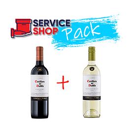 Pack Vino Sauvignon Blanc Reserva 750 Ml Casillero del Diablo + Vino Carmener Reserva 750 Ml Casillero del Diablo