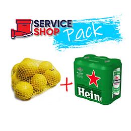Pack Limon en Malla 1 Kg + Cerveza Lata 6 X 470 Cc Heineken