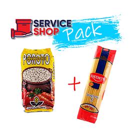 Pack Poroto Blanco 1 Kg + Fideos Spaguetti N°5 400 Gr Lucchetti