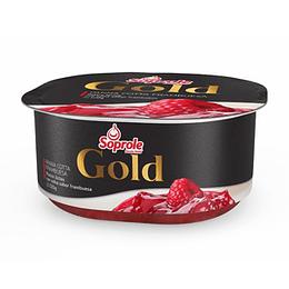 Postre Gold Panna Cotta Frambuesa 2 X 120 Gr Soprole