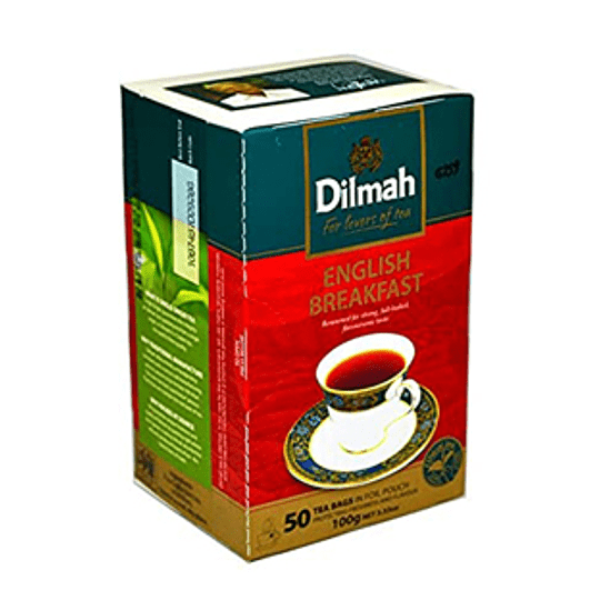 Te Negro English Breakfast 50 Bolsitas Dilmah