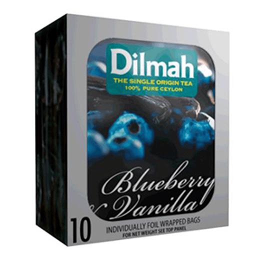 Te Negro Blueberry Vainilla 10 Bolsitas Dilmah