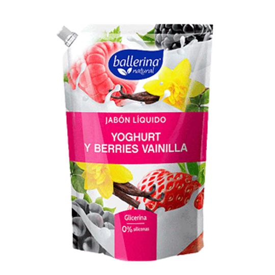 Jabon Liquido Yoghurt Berries Vainilla 900 Ml Ballerina