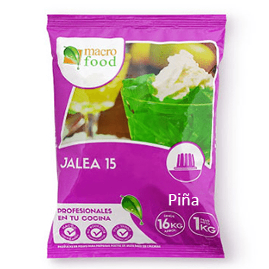 Jalea 15 de Piña 1 Kg Macrofood