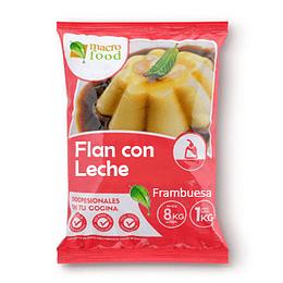 Flan con Leche Frambuesa 1 Kg Macrofood