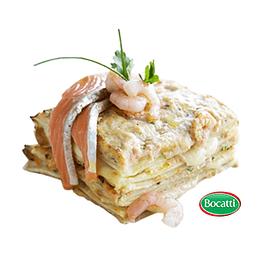 Lasaña Salmon Camaron Jumbo 900 Gr Bocatti (4 Porciones)