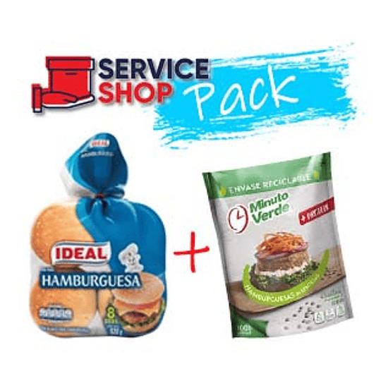 Pack 8 Hamburguesa Lenteja 100 Gr Minuto Verde + Pan Hamburguesa 520 Gr Idea