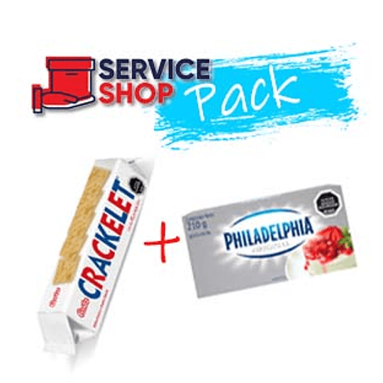 Pack Queso Crema 210 Gr Philadelphia + 2 Galleta Crackelet 85 Gr Costa