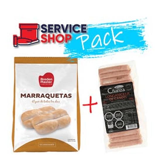 Pack 2 Longanicilla Trad. 280 Gr Agrosuper + Pan Marraqueta Cong 1 Kg BM